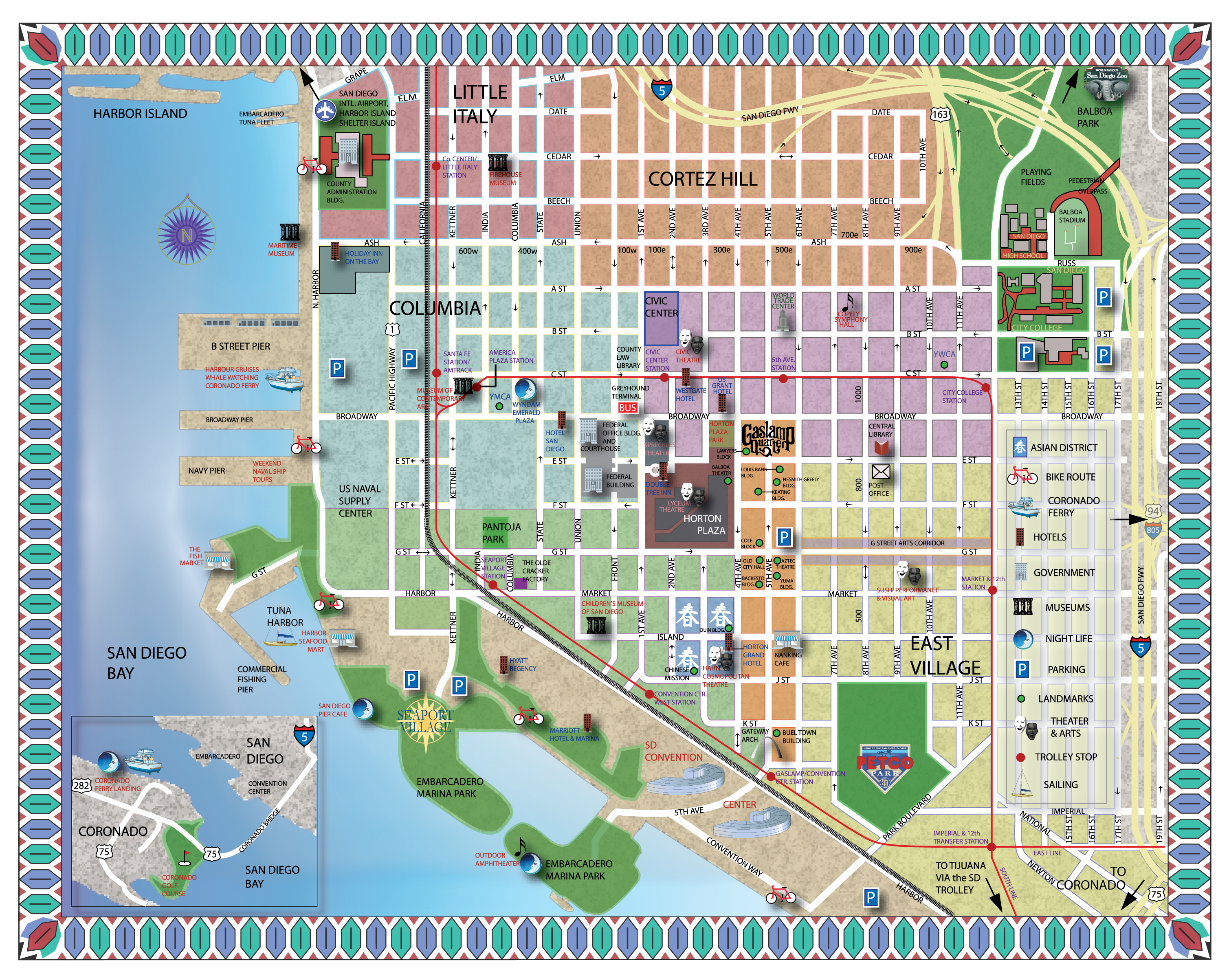Tiffany Meshkat and Tom Batess Wedding Website – Tourist Map San Diego